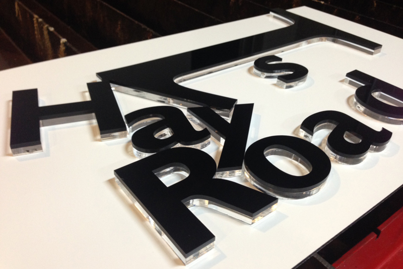 Mailbox House Sign Laser Cut 3D Floating Stainless Steel Plaque 600mm wide